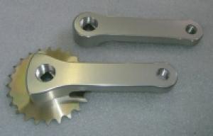 Tretkurbeln Alu 90 mm mit Kettenblatt 24 Zähne